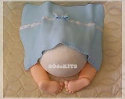 Topo de bolo bumbum de bebe menino