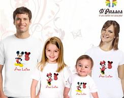 Kit 4 camisetas- Minnie Vermelha 01