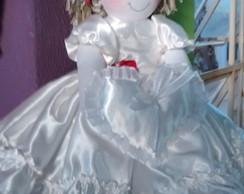 Bonecas Daminha com Almofada p/ Alian�a
