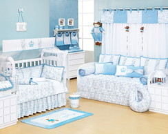 Kit Cama Bab� Ninos Azul 10 pe�as
