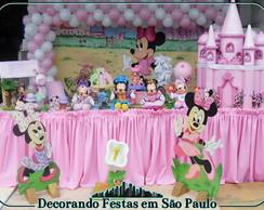 Decora��o Mesa Baby Disney Rosa