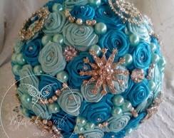 Bouquet Azul Turquesa grande