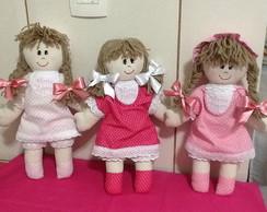 boneca de pano 33 cm personalizada