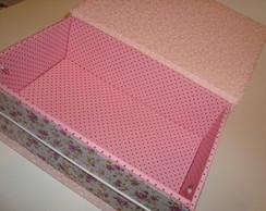 Kit caixa em cartonagem + mini caderno