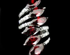 Anel de Zirc�nias Vermelhas