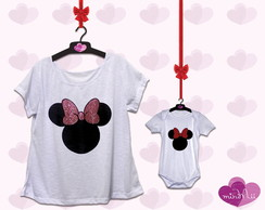 Conj. M�e e Filha - Minnie (Body)