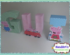 Letras decorativas 3D-Peppa