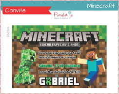 Convite Digital Minecraft