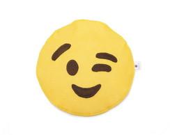 Lixinho de carro emoji em feltro