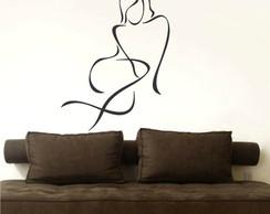 Adesivo Decorativo Abstrato Mulher