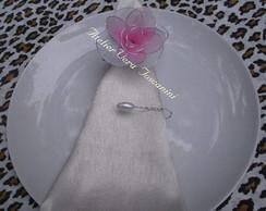 Porta-guardanapo flor meia de seda!