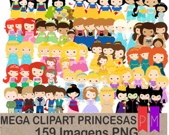 Mega Kit Scrap Digital Princesas Disney