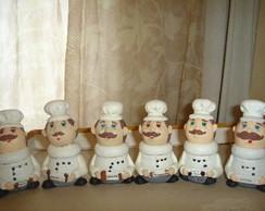 conjunto de condimento cozinheiro