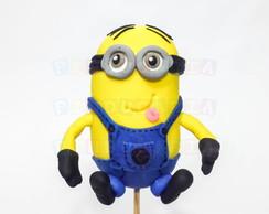 Topo de Bolo Minion Amarelo