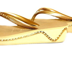 Havaianas high light frisada com strass