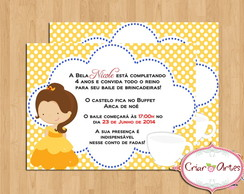 Convite A bela e a Fera - mod. 2