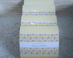 R�tulos Kit Toalete amarelo floral