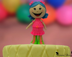 Boneca personalizada para topo de bolo