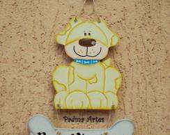 Cachorro com Osso - Enfeite de Porta