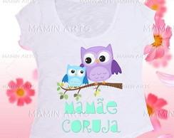 T shirt Mam�e coruja 2