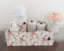 Kit Higiene Porcelana Floral Cupcake