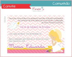 Convite Digital Comunh�o Menina