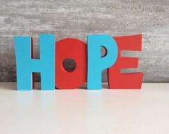 Palavra Decorativa Hope