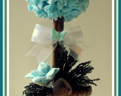 Topiaria Flor EVA Azul Claro C/Cristal