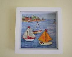 quadro com barcos
