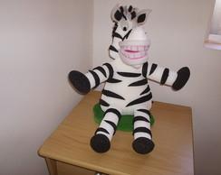 enfeites de mesa safari zebra