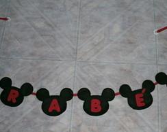 Varal de banderinhas Parab�ns Mickey