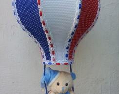 Lustre Bal�o Infantil Azul, Vermelho e B