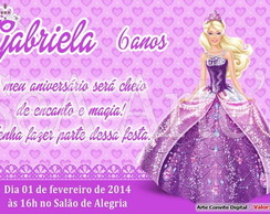 Arte Convite Digital - Barbie Princesa