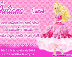 Arte Convite Digital - Barbie