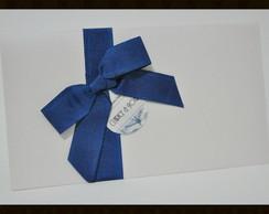 Convite Paris vintage azul
