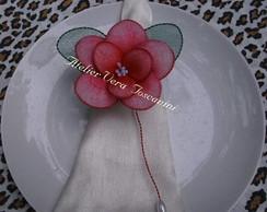 Porta_guardanapo flor meia de seda!