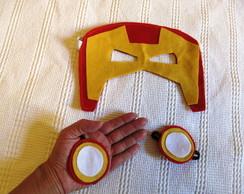 Kit Homem de Ferro M�scara E Bracelete