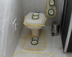 Jogo para Banheiro Flor Margarida