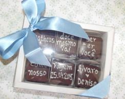 Convite No Chocolate 6 bombons