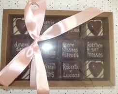 Convite no chocolate 12 bombons