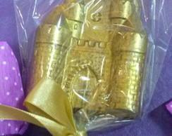 Pirulito de chocolate Castelo dourado