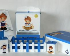 kit beb� marinheiro - 7pe�as