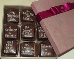 Convite no Chocolate caixa MDF