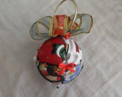 Bola de Natal grande patchwork