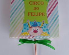 Caixa porta pirulito circo