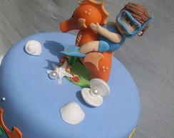 topo de bolo fundo do mar