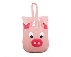 Lixinho plastificado - porco rosa *