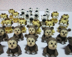 Bichinhos safari em biscuit