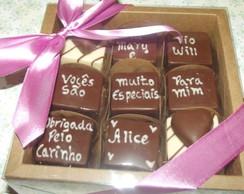 Convite no chocolate 9 bombons