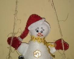 Mobile Boneco de Neve em feltro